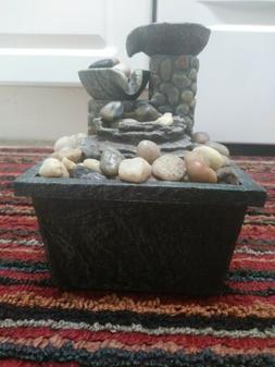Natural Look Beautiful Stone Water Fountain Table Top Home/O