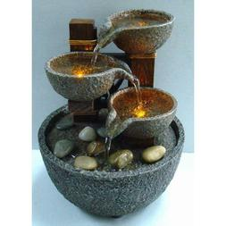 Natural River Rock Falls Indoor Tabletop Water Fountain