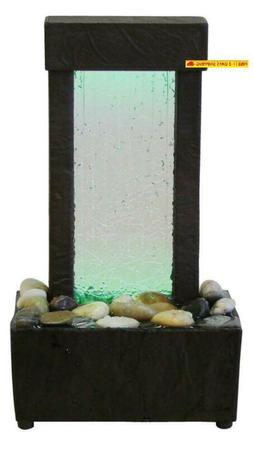 Nature'S Mark Cracked Glass Color Changing Led Relaxation Wa
