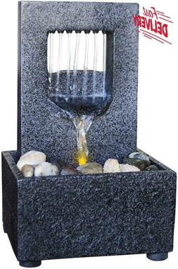 Nature'S Mark Raining Spout Led Relaxation Water Fountain Wi