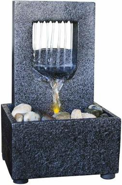 Natures Mark Raining Spout Led Relaxation Water Fountain Wit