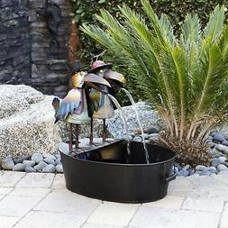 ncy298 metal crow fountain