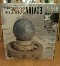NEW-Homedics Envirascape Water Globe Tabletop Relaxation Fou