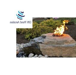 new fire and water boulder fountain complete