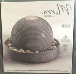 NIB- Mirra Cascade Tabletop Water Relaxation Fountain by Hom