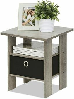 Nightstand Bedside Lamp Stand Sofa End Side Table Storage Sh