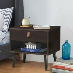 Nightstand Sofa Side End Table Bedside Table w/ Drawer Stora