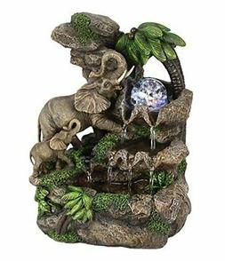 "OK Lighting 11.00"" H Elephant Table Fountain"