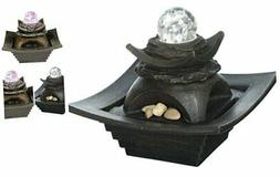 OK Lighting FT-1098/1L 7 in. Antique Water Fountain with LED
