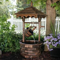 old fashioned wood wishing well