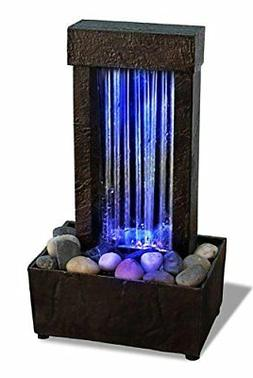 outdoor indoor Waterfall LED Light Table Water mini Fountain