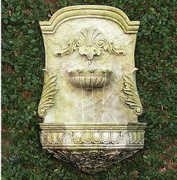 Outdoor Ornate Wall Hanging Water Fountain  by Orlandi Statu