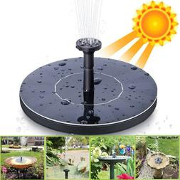 outdoor solar powered floating water fountain pump