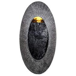 "Oval, Indoor/Outdoor Wall Fountain 24"" x 12"" 