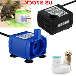 Pet Plastic Water Fountain Pump Submersible Dog Cats Drinkin