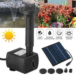 Solar Fountain Submersible Water Pump Kit Filter Panel Pool