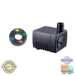 Jebao PP-300LV+LED Submersible Fountain Pond Water Pump with