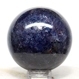 40mm Rainbow Rich Blue Iolite Sphere Natural Sparkling Cryst
