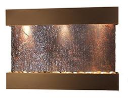 Reflection Creek Water Feature with Blackened Copper Trim an