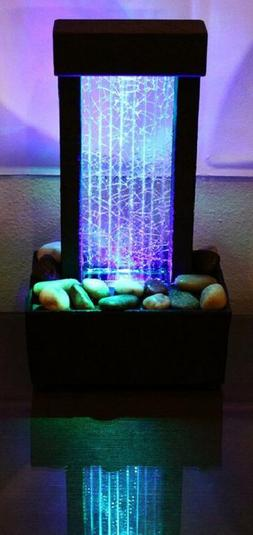 Relaxation Fountain Desktop Waterfall Table Indoor LED Water