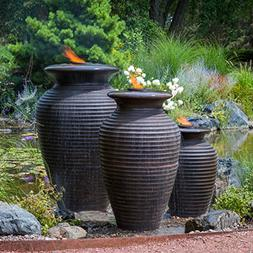 Aquascape Rippled Urn Water Fountain for Outdoor, Landscape