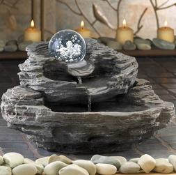 Rock Water Cascading Tabletop Indoor Fountain Home Decor