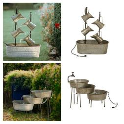 Glitzhome Rustic Iron Water Fountains Indoor Outdoor Patio B