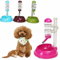 Safety Automatic Pet Water Bottle Feeder Dispenser Food Stan