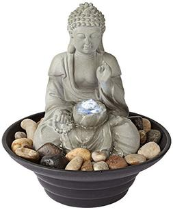 Sitting Buddha LED Tabletop Zen Fountain ORIGINAL John Timbe