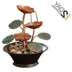 Small Indoor Water Fountain Living Room Decor Tabletop Relax