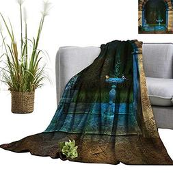 YOYI Soft Blanket Microfiber Forest Landscape from Ancient A