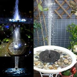 LED Lights Solar Powered Fountain Water Pump Night Floating