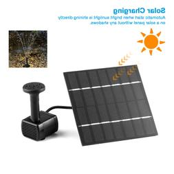 Solar Power Panel Water Fountain Pump Kit Pool Garden Pond W