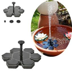 Solar Power Plastic Fountain Water Floating Small Pond Garde