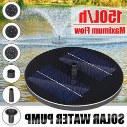 Solar Powered Fountain Water Pump Floating for Garden Pond P