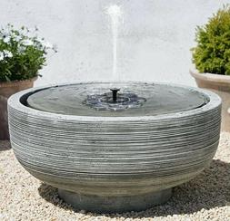 Qualife Solar Water Fountains Outdoor Sun-Powered Fountain P