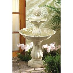 Stone-Look Tiered Indoor/Outdoor Acorn Fountain