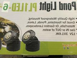 Jebao Submersible 3pc 12Led Pond Lights Water Fountain Fish