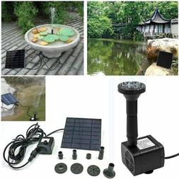 Submersible Solar Powered Bird Bath Water Fountain Pump For