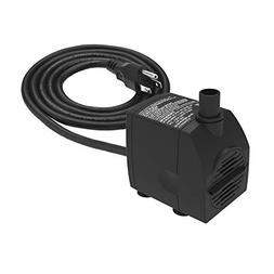 Submersible Water Pump 6.1ft Power Cord 200GPH Ultra Quiet P