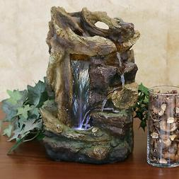 Sunnydaze Rocky Dri'wood Indoor Tabletop Water Fountain Feat