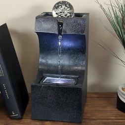 Sunnydaze Soothing Matrix Indoor Tabletop Water Fountain - L