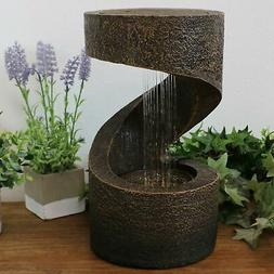 Sunnydaze Winding Showers Tabletop Water Fountain Feature wi