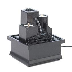 Tabletop Candle Relaxation Fountains Garden Tranquility Indo