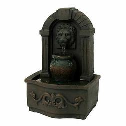 Tabletop Water Fountain Classic Lion Head Indoor Waterfall S