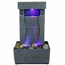 Tabletop Water Fountain Indoor Waterfall Color Changing LED