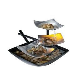 Tabletop Water Fountain Indoor Waterfall Zen Relaxation Tran