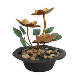 Relaxus Tabletop Water Lilies Indoor Water Fountain