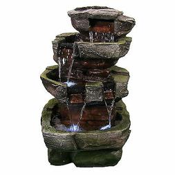 tiered stone fountain
