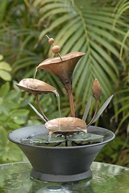 """CC Home Furnishings 9.8"""" Tranquil Exotic Tiered Metal Flower"""